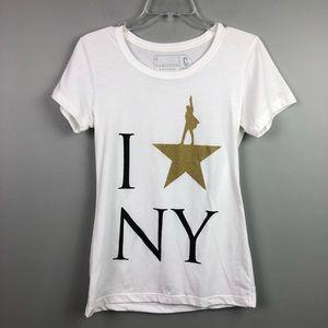 Broadway's HAMILTON New York White T-shirt Small